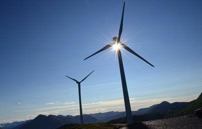 Pillar Mountain wind turbines