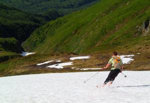 Skiing in July