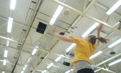 Leaping into volleyball camp