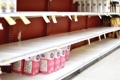 Grocery stores scramble keep shelves stocked