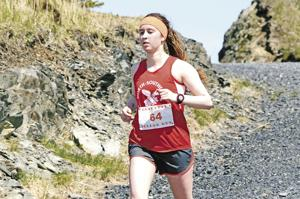 <p>Arielle Himelbloom competes in the 2018 Pillar Mountain Run.</p>