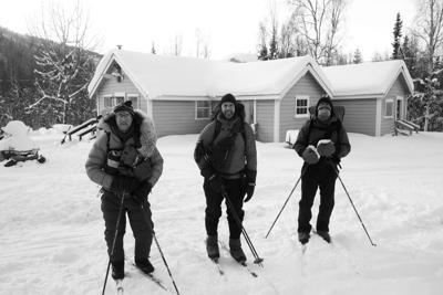 Winter journey along the Yukon River