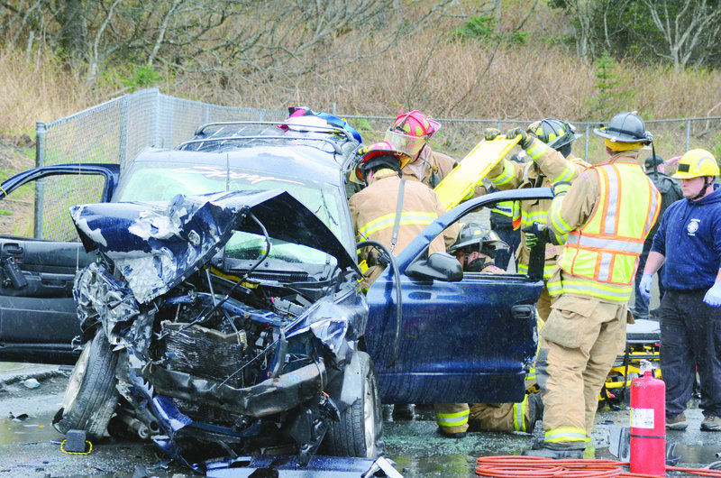 Accident on Mill Bay Road Monday.May 5, 2014