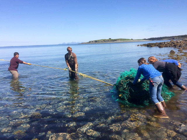 Teams clean up Shuyak beaches