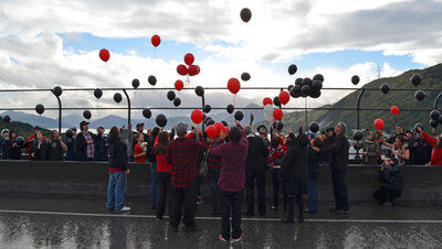 Mourners pay respects to fisherman lost at sea