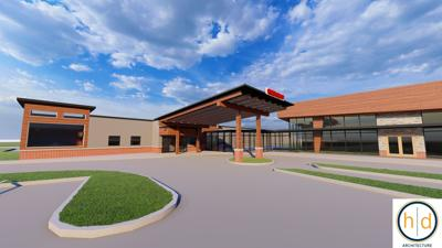 Noble Health rendering of a new ER awning at Callaway Community Hospital