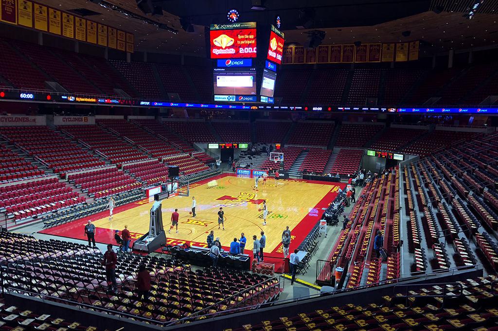 Inside scene of Hilton Coliseum