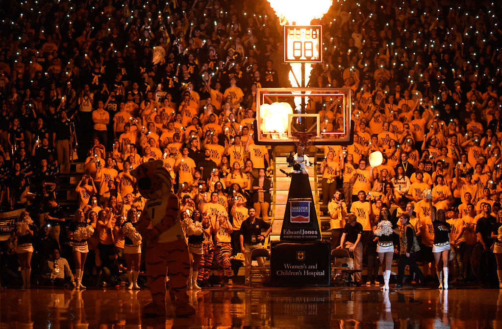 Missouri fans light up a sold-out Mizzou Arena