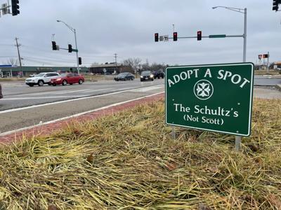 Adopt-a-Spot sign has many people asking questions