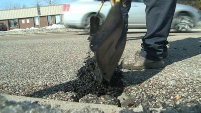 MoDot Repairs Pot Holes on Providence Road