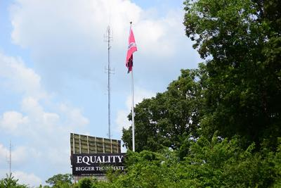 A billboard promoting equality placed in response to the Confederate flag