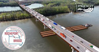 Rendering of the new Interstate 70 Bridge at Rocheport