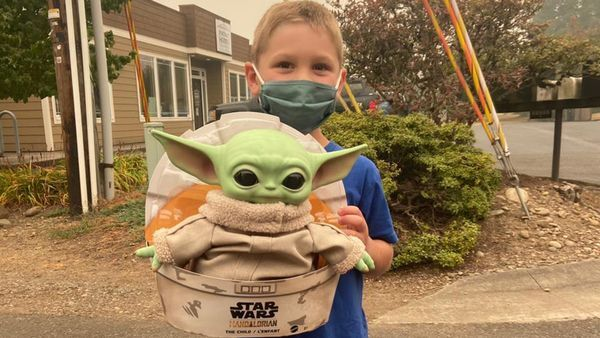 A boy sent his Baby Yoda doll to Oregon firefighters Now they take it on their calls