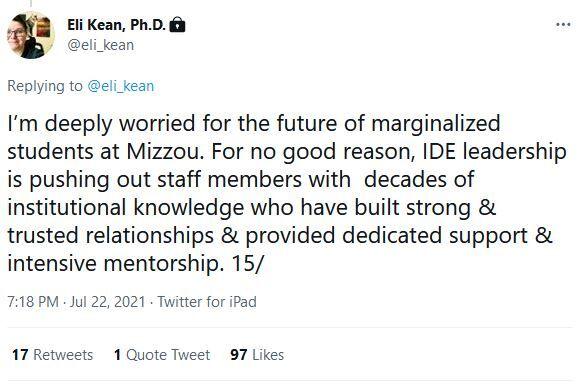 Eli Kean tweet