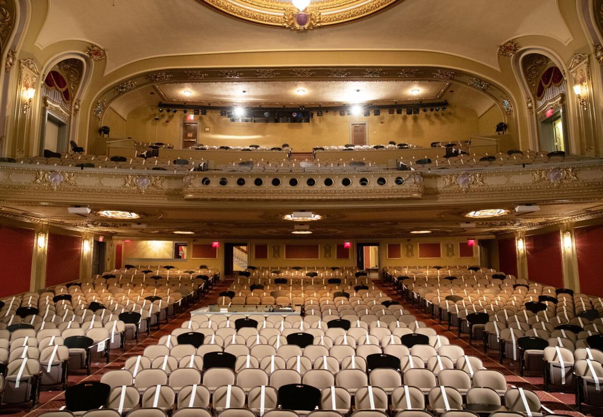 The Missouri Theatre can seat around 1,200 people