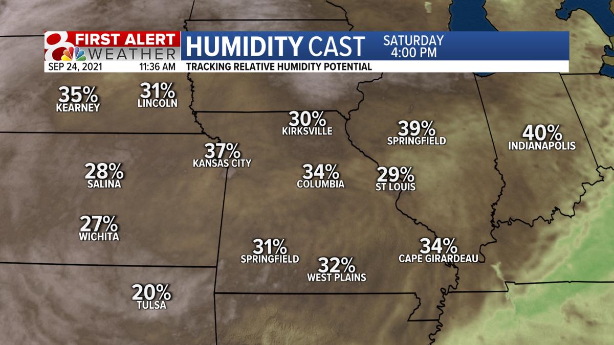 Relative Humidity - Saturday