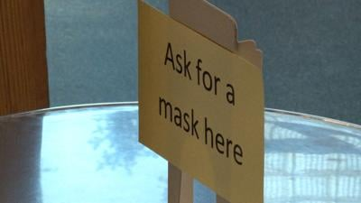 Ask for a mask here