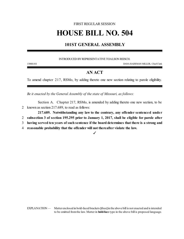 House Bill 504