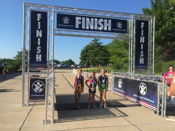 Mighty kids brave the heat to compete in local triathlon