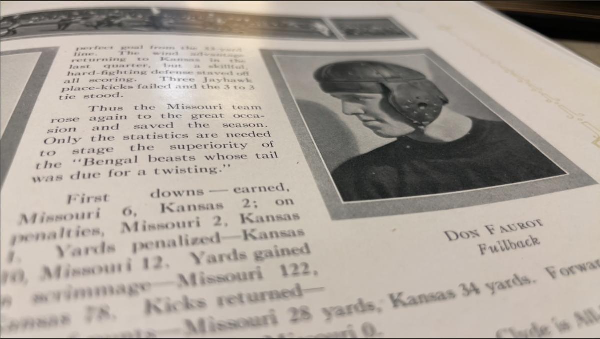 Don Faurot in the 1924 Savitar