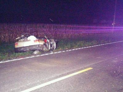 Car crashed on Highway WW