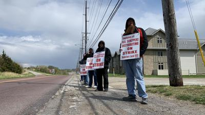 Union workers strike Scheppers Distributing over working conditions, wages