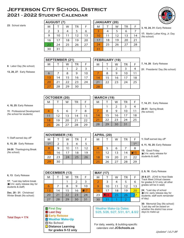 Missouri Election Calendar 2022.Update Jcsd Postpones New 2021 2022 School Year Draft Calendar Approval Due To Inclement Weather Mid Missouri News Komu Com