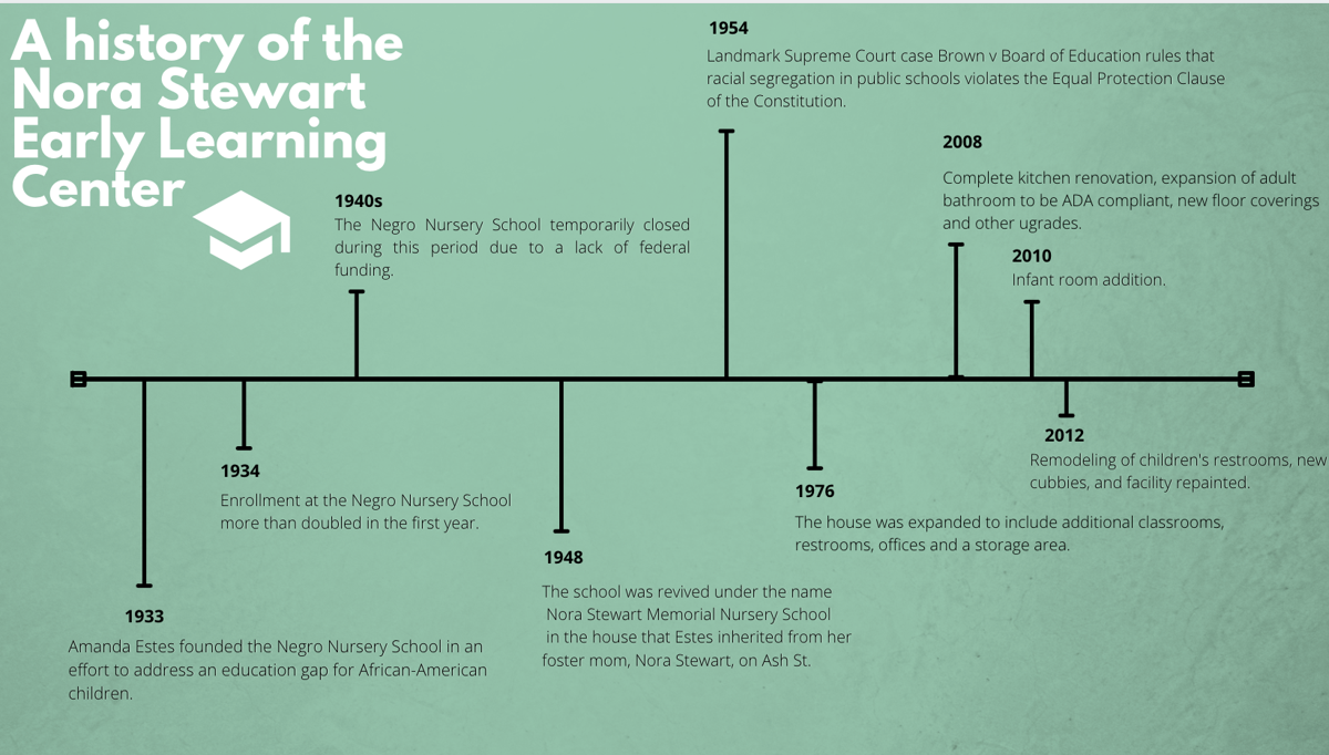 History of NSELC graphic