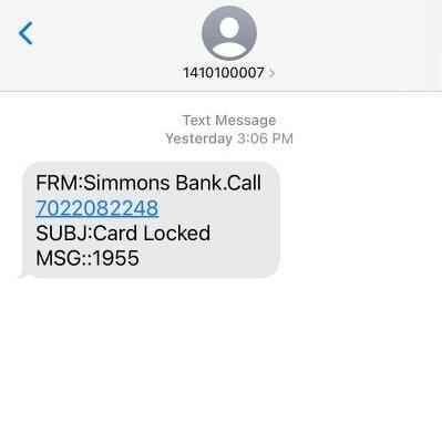 Screenshot of scam