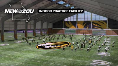 Proposed new Mizzou Football indoor practice facility rendering