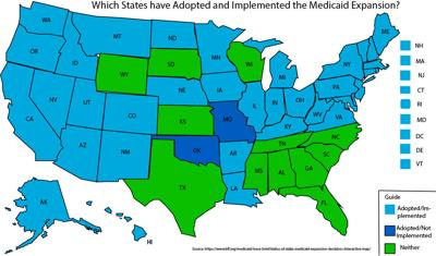 Map of Medicaid Implementation