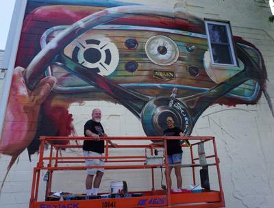 Auburn steering wheel mural
