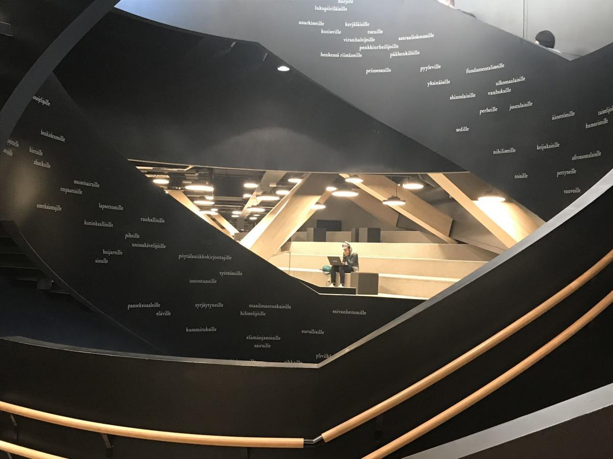 Helsinki library tells a story about the people it serves
