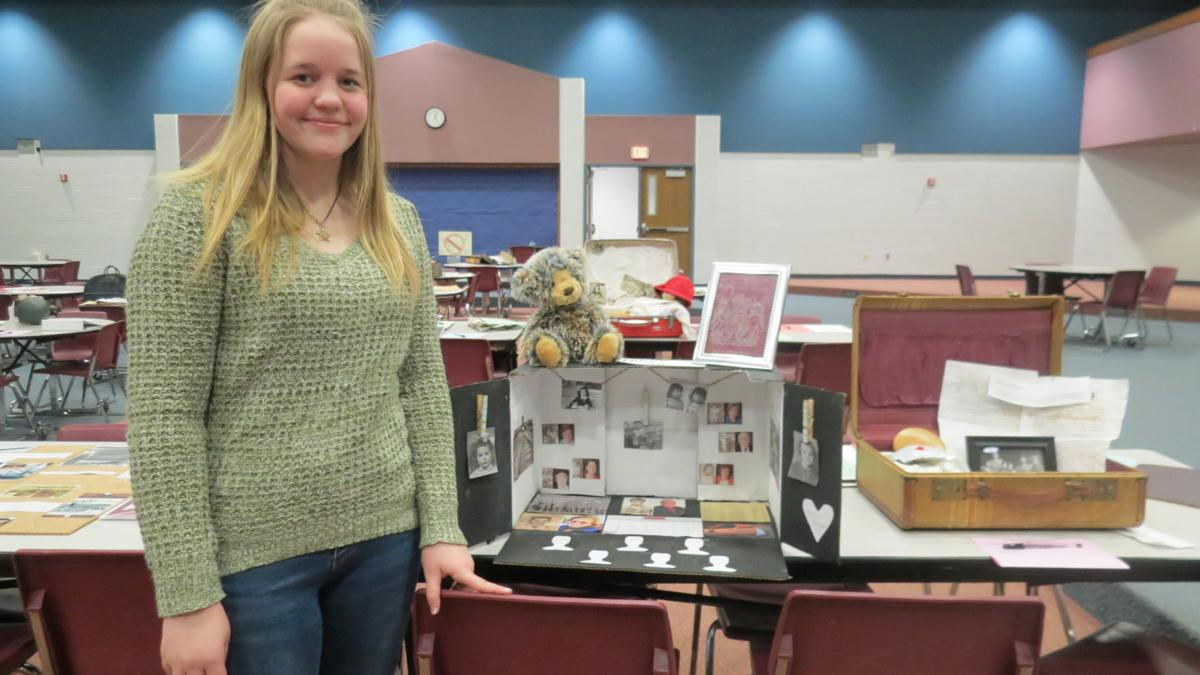 West Noble Middle School Holocaust Museum display educates students and parents alike