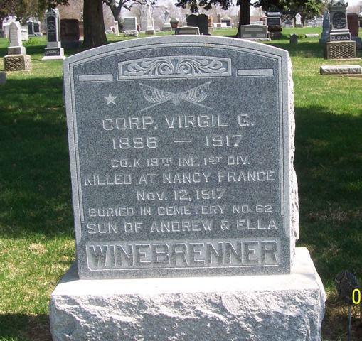 Grave of Virgil Winebrenner
