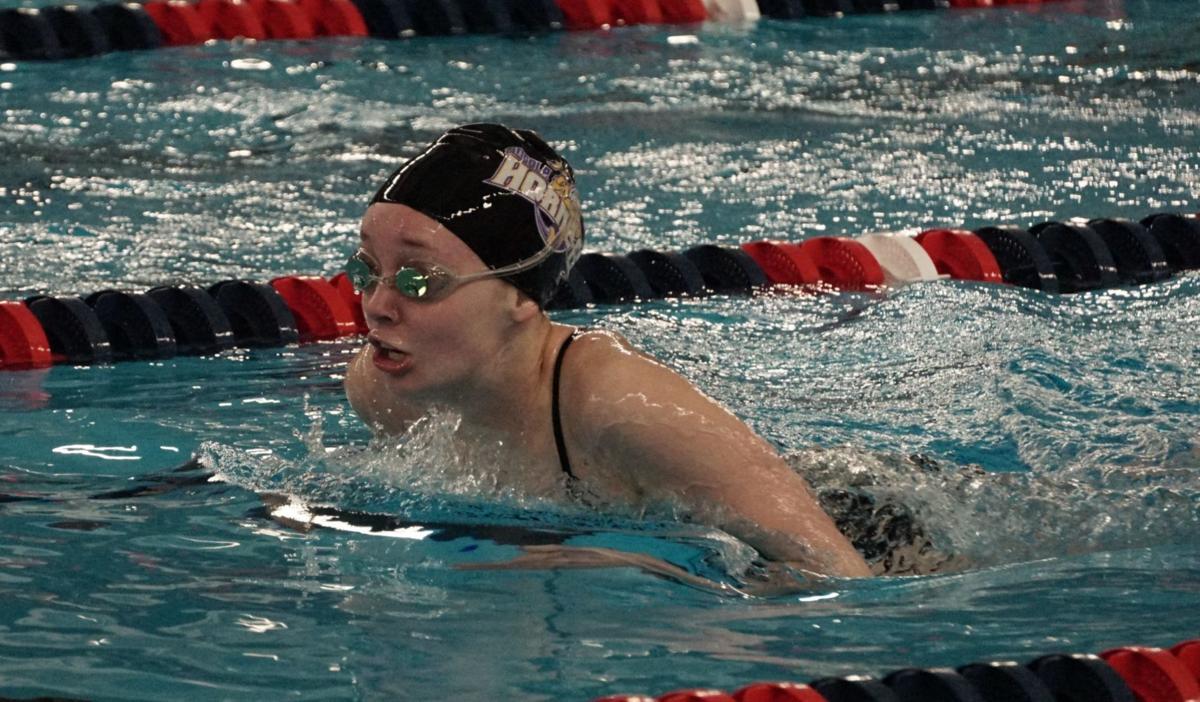 Stultz swims 100 breaststroke