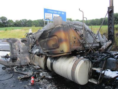 Semi fire on Interstate 69 near Auburn
