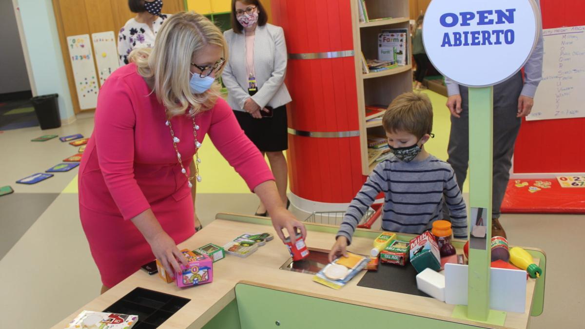 Secretary of education tours East Noble preschool