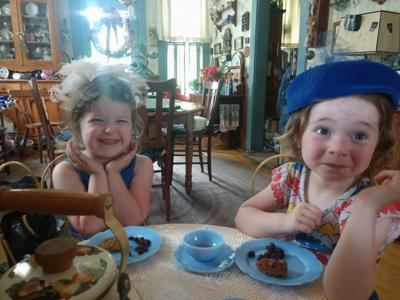 Tea party at Great-grandma's house