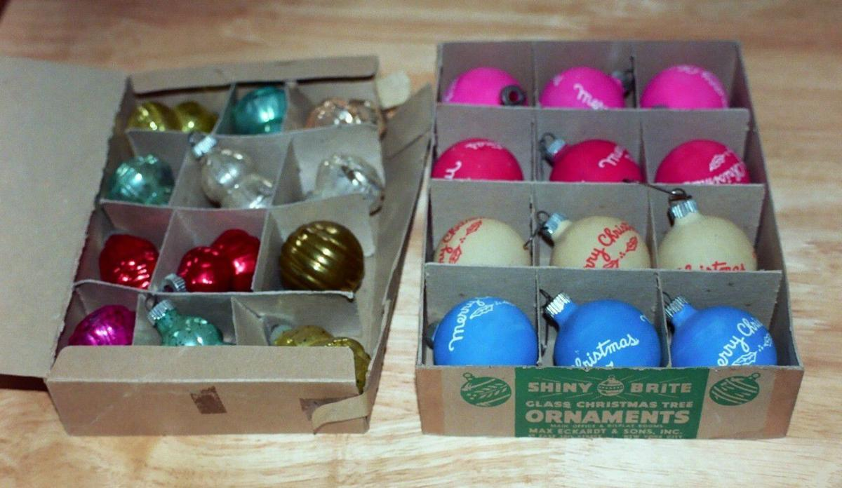 Shiny Brite boxed holiday ornaments