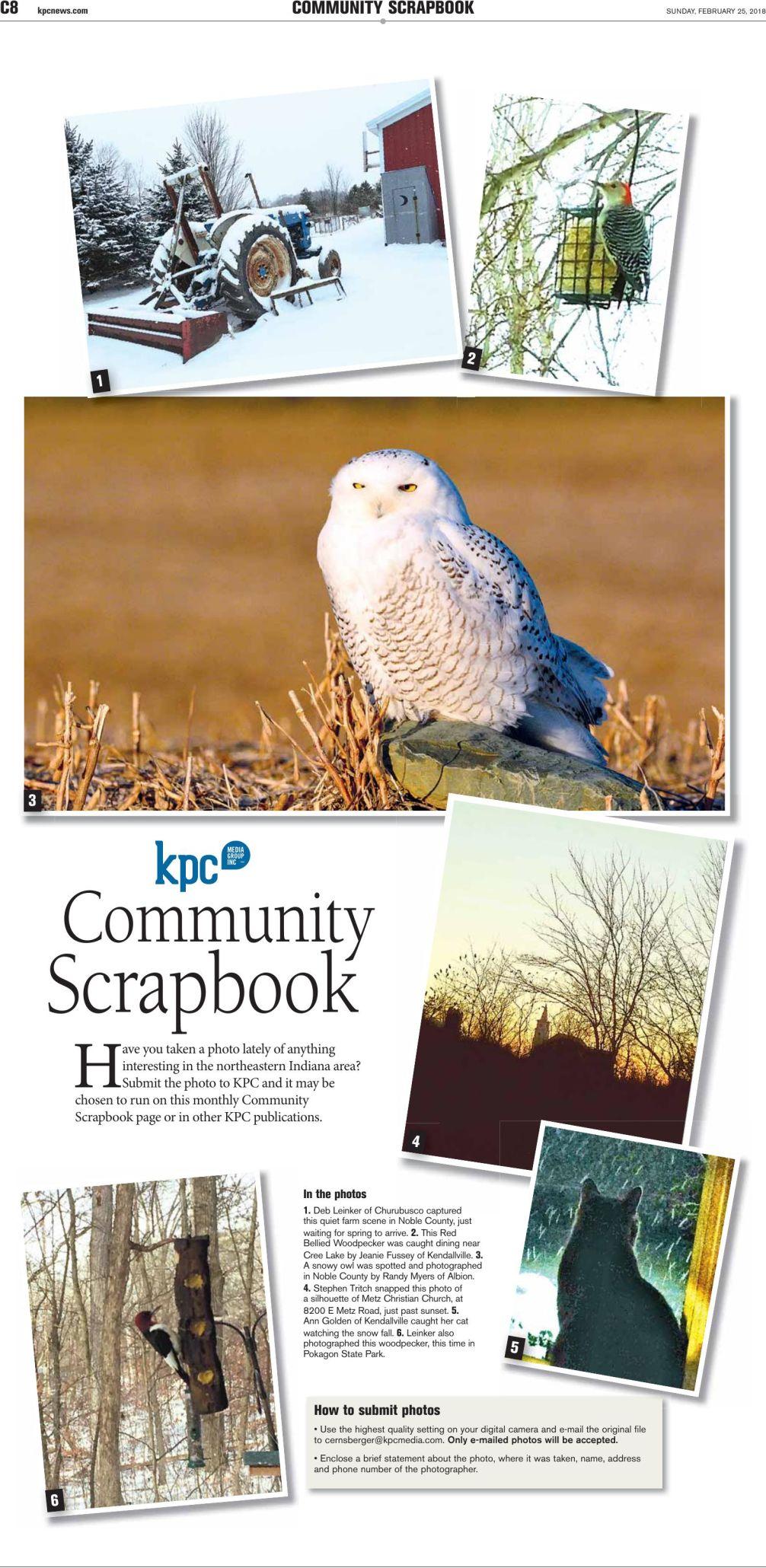 Community Scrapbook February 2018