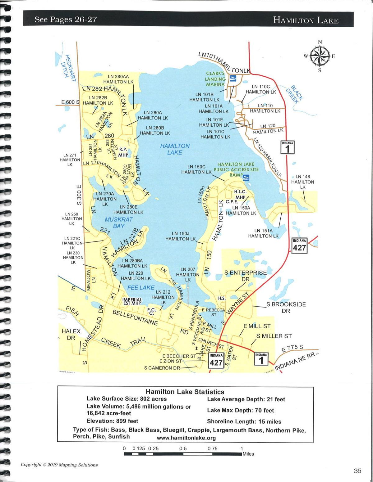 Hamilton Lake Indiana Map.New Plat Books At Extension Office Heraldrepublican Kpcnews Com