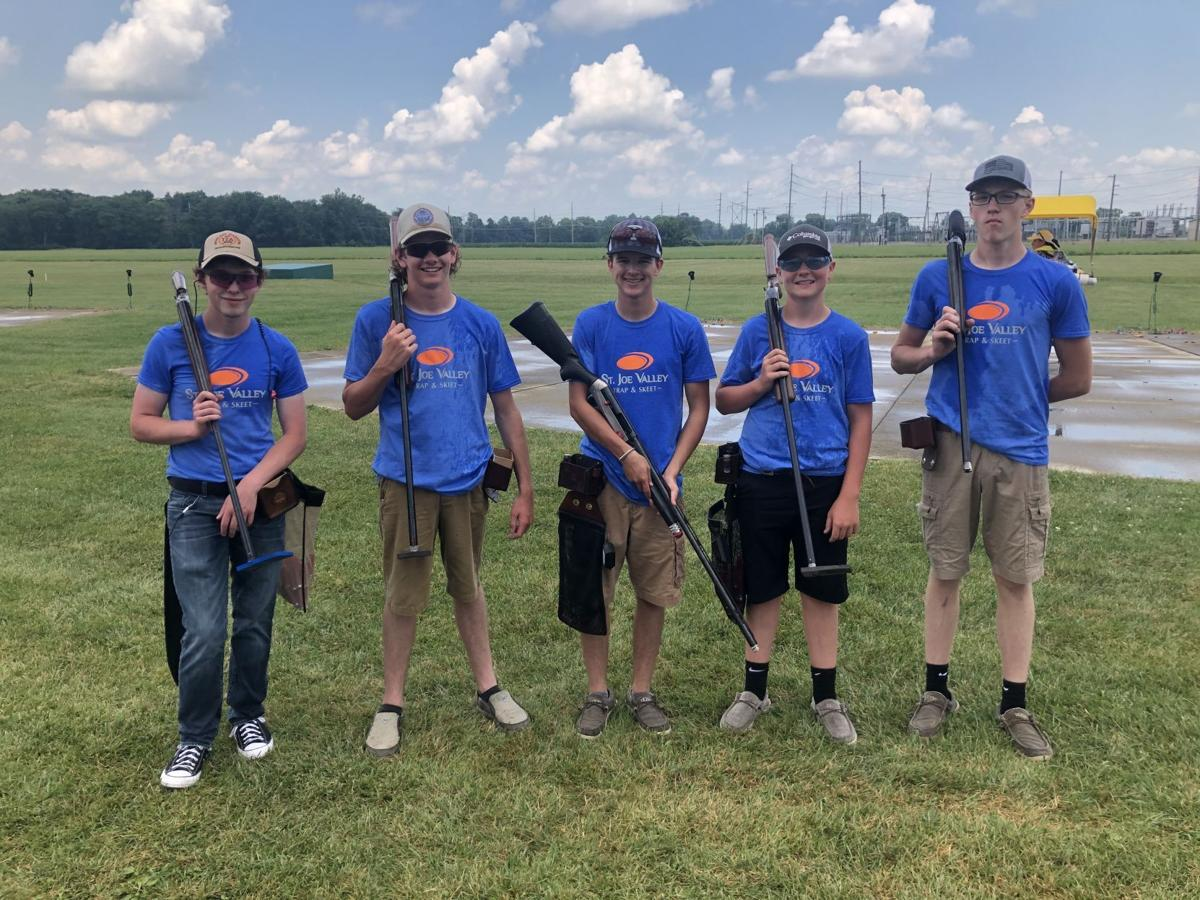 Third place trap shooters