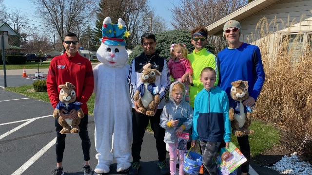 Runners place in Rabbit-Grabbit 2 Mile Race