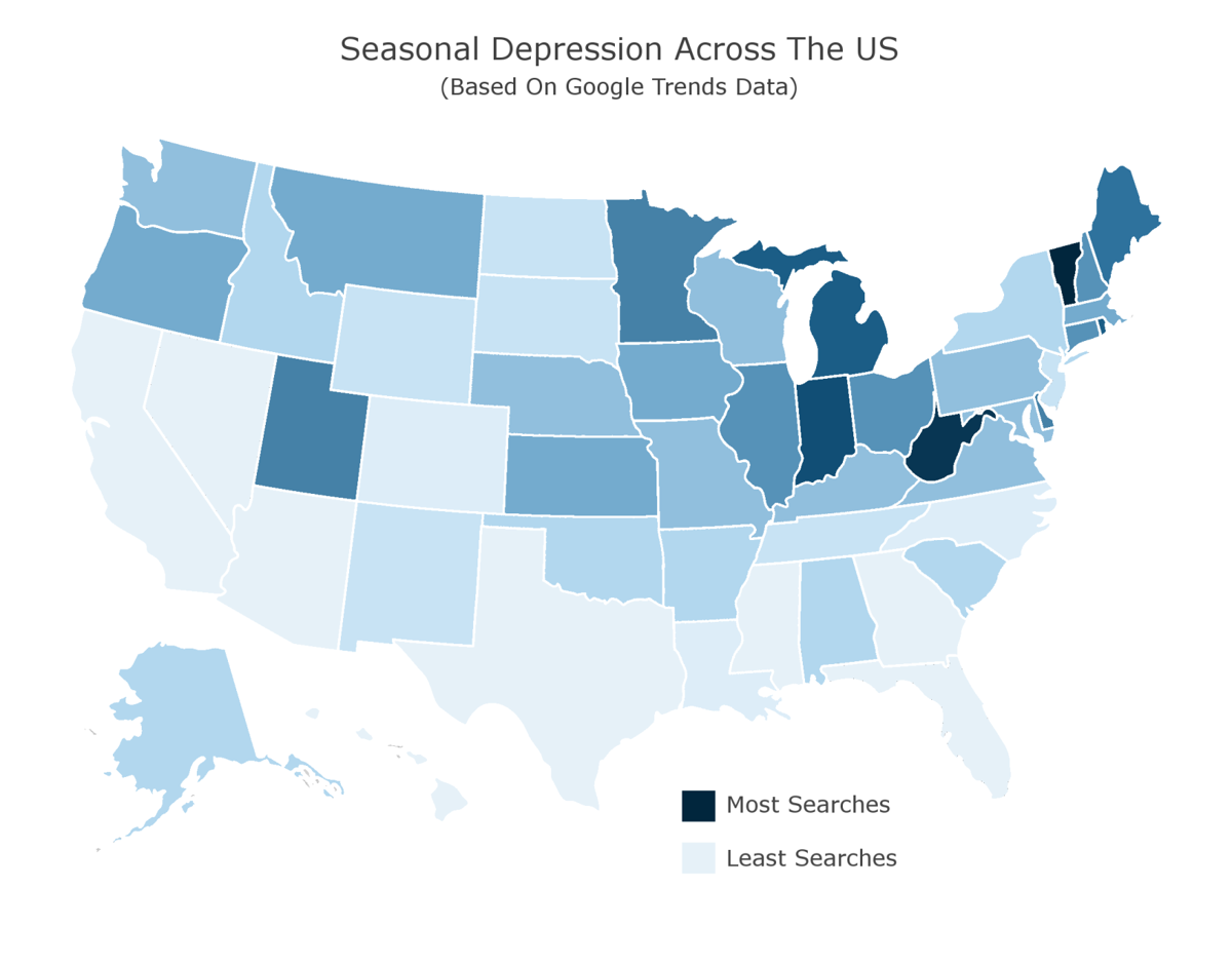 Indiana 3rd in Google searches for seasonal depression | News Sun |  kpcnews.com