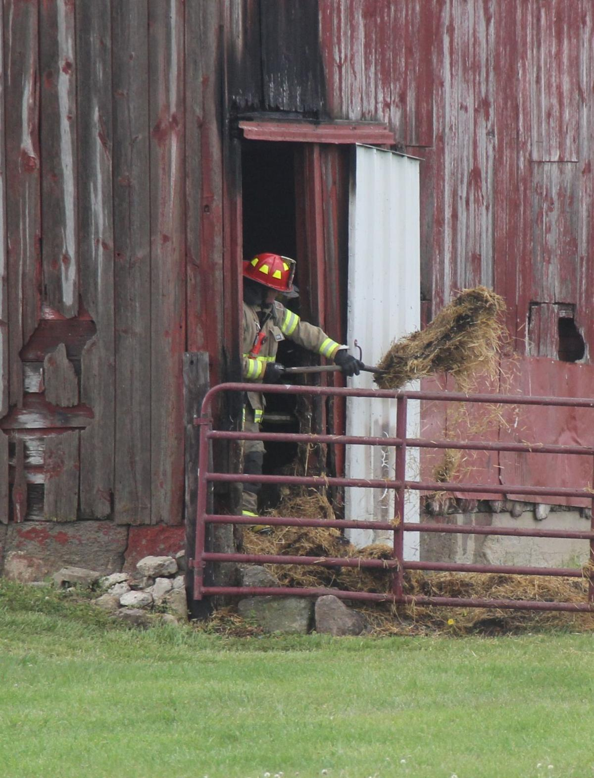 Butler barn fire extinguished quickly