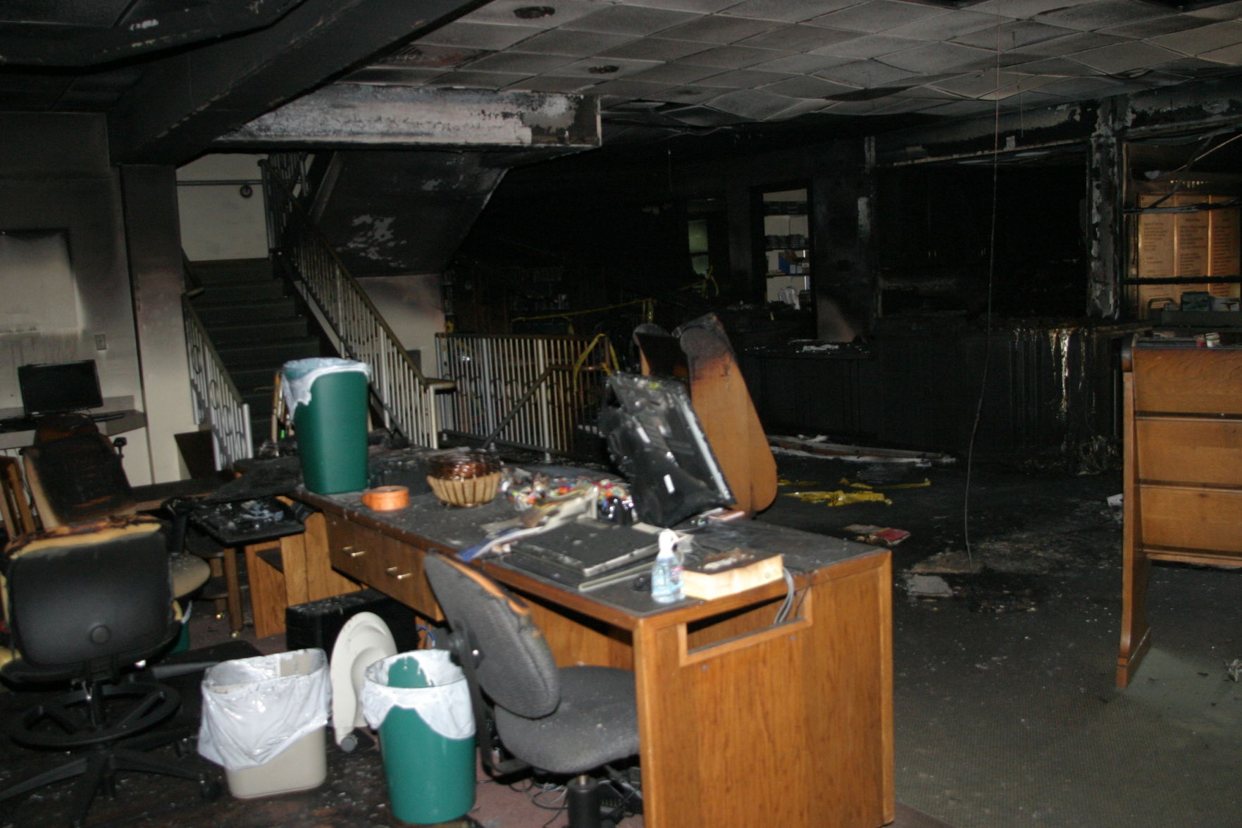 first views of eckhart public library fire damage news kpcnews com