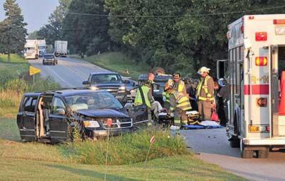 5 hurt in 4-vehicle wreck | News | kpcnews com