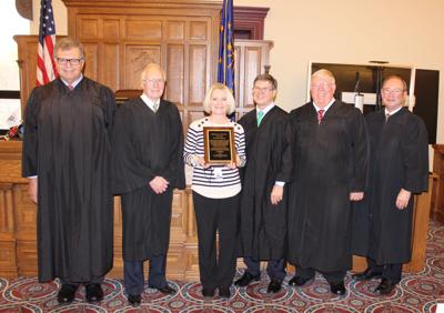Noble County Chief Probation Officer Stacey Beam honored