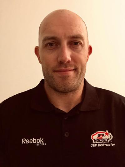 Trine's new youth hockey director and assistant rink manager John Mihalik